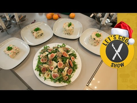 Новогодний салат с инжиром + Оливье [Let's Cook Show]