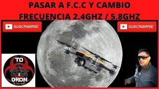DRON DJI SPARK CAMBIO DE FRECUENCIA Y PASAR A CON EL TELÉFONO 2020 EN 5 MINUTOS RÁPIDO Y FÁCIL