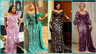 💕💘2020 Latest Lace Gown Styles | Checkout Aso Ebi Lace Collection For Women