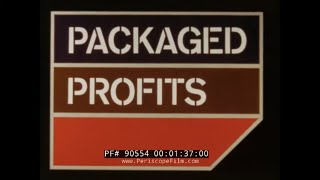 """"""" PACKAGED PROFITS """"  CARGO CAPACITY OF BOEING 747 JET AIRCRAFT LOWER COMPARTMENT   90554"""