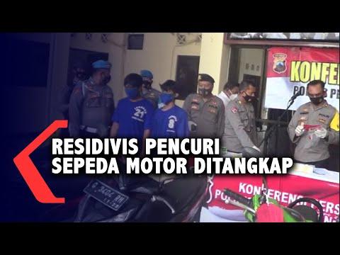 Dua Residivis Pencuri Sepeda Motor Dibekuk