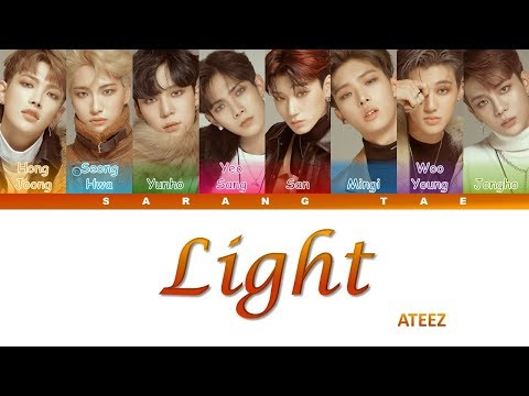 ATEEZ (에이티즈) - 'Light' Lyrics [Color Coded_Han_Rom_Eng]