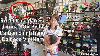 Cầm 40 triệu Su đi mua nón AGV Pista Carbon ở chính hãng Dainese VietNam ra sao ?
