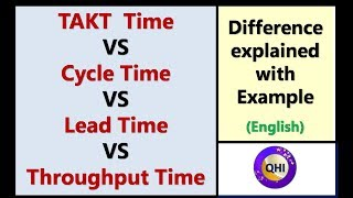 TAKT Time VS Cycle Time VS Lead Time VS Throughput Time – Difference explained with example
