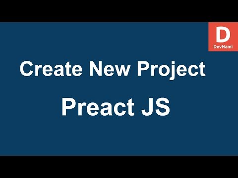 Preact JS Create New App