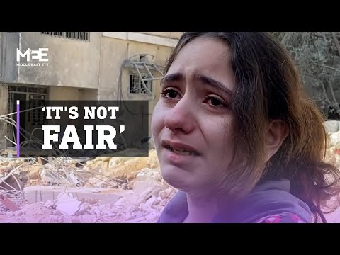 A 10-year-old Palestinian girl breaks down while talking to MEE