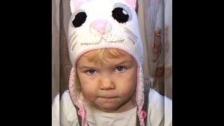 шапочка -  кошка, на девочку 4 лет, вязание крючком !