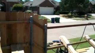 How to keep wooden fence top straight while installing the