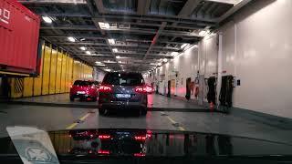 DFDS Seaways - Amsterdam-Newcastle Fähre / Boarding und Hafeneinfahrt