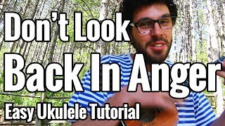 Oasis - Don't Look Back In Anger - Ukulele Tutorial - Chords, Strumming Pattern & Play Along