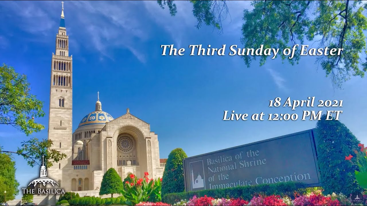 Catholic Sunday Mass 19th April 2021 By Basilica of the National Shrine
