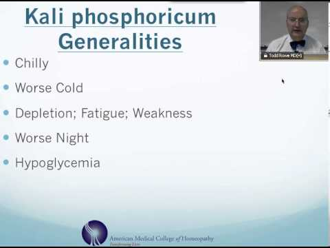 Video Kali Phosphoricum: Homeopathic Medicine -Tips For Beginners