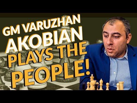 GM Varuzhan Akobian Plays The People!