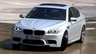 Bmw M5 F10 Exhaust Sound - Accelerations&fun On Wet