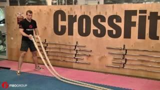 Смотреть онлайн Кроссфит упражнения с канатом