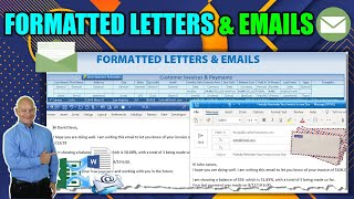 Create Word Documents &  Emails From Any Excel Table, With Number Formatting, Without Mail Merge