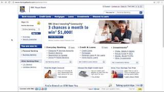RBC Royal Bank Online Banking Login / Sign In - Man of Few Words