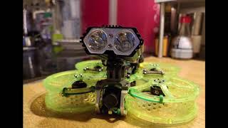 FPV 410 - Taycan 25 Night Test my DIY Headlights