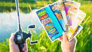 LOTTERY TICKET Fishing Challenge!!! (WINNER!)