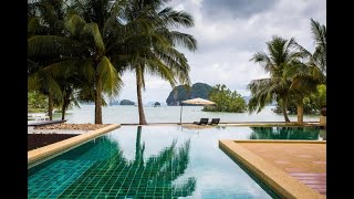 Seafront Private Pool Villa with Beautiful Phang Nga Bay Views for Sale in Khao Thong, Krabi