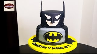 How To Make A Batman Cake | Decorating A Cake Tutorial  | #bakersdelight