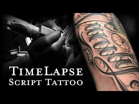 "Time Lapse Script Tattoo ""Vanity"" Mp3"