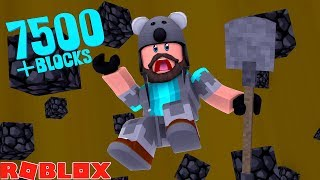 I DUG THROUGH THE BOTTOM!! 7500+ BLOCKS!!   ROBLOX TREASURE HUNT SIMULATOR!