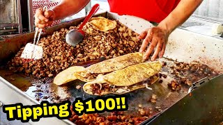 TIPPING $100 Dollars!! - Mexican Street Tacos - AMAZING Reaction - Money Sent From SUBSCRIBERS!!