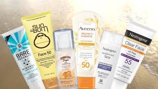 BEST & WORST Drugstore Face Sunscreens | Which to buy? | uluu