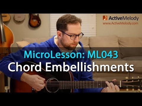 Rhythm Guitar Lesson - Chord Embellishment Ideas Over a simple Chord Progression - ML043