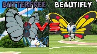 Beautifly  - (Pokémon) - Pokemon battle revolution - Butterfree vs Beautifly