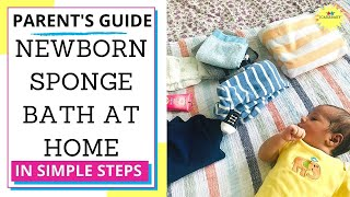 Sponge Bath Newborn Like Pro | Step by Step | Baby Care Basics