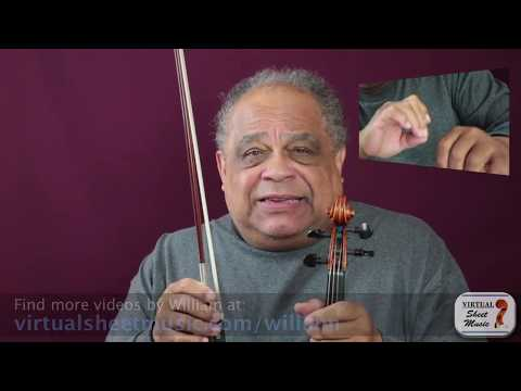 Where to place the left-hand thumb on your violin