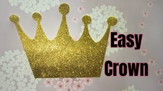 DIY How To Make Crown From Glitter Paper | Royal Crown For Birthday | How To Make Queen Crown At Hom