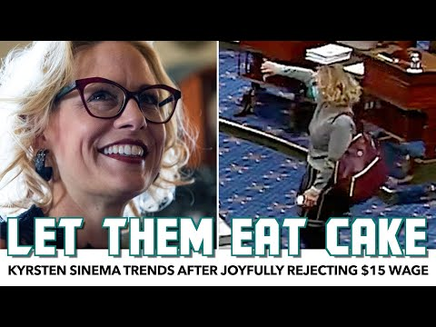 Kyrsten Sinema Joyfully Rejects $15 Min Wage. Brings Cake For The Occasion