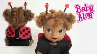 Baby Alive Doll Ladybug Costume!  No glue or sewing! Part 3 of 4!
