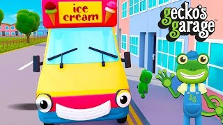 Ice Cream Truck Song And More Ice Cream Truck Cartoons For Children | Gecko's Garage