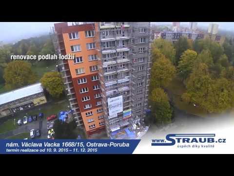 Zateplení panelového domu v Ostravě na ul. Nám. Václava Vacka 1668/15