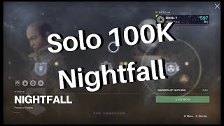 How to get 100k Score In Nightfalls | Challenge Card Guide