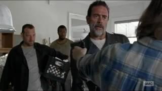 The Walking Dead 7x04 Carl Threatens Negan