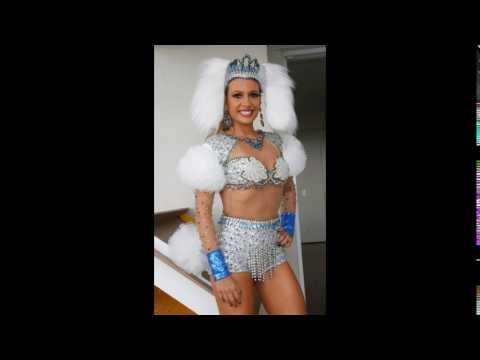 Luisa Mell se fantasia de Poodle para ensaio técnico de Carnaval