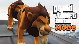 THE LION KING in GTA 5! Mod Gameplay!