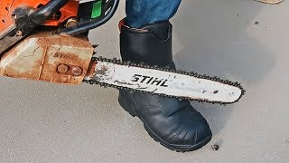Do Chainsaw Boots Really Stop A Chainsaw?