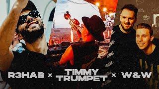 Kadr z teledysku Distant Memory tekst piosenki R3HAB, Timmy Trumpet & W&W