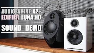 Edifier E25HD Luna Eclipse HD vs Audioengine A2+  ||  Sound Demo w/ Bass Test