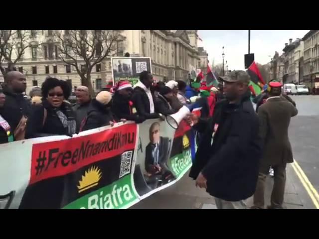 Biafra Protest in London 20-03-2016