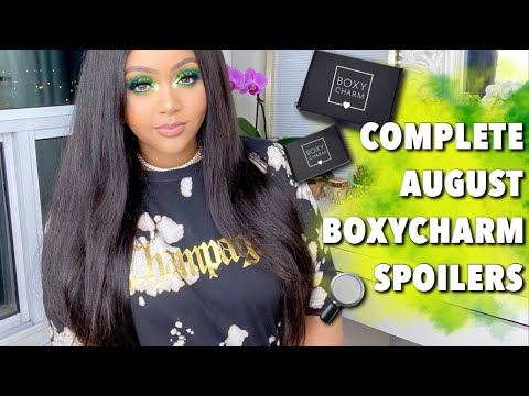 COMPLETE AUGUST 2020  BOXYCHARM SPOILERS: BASE & PREMIUM🤭 || BOXYPOPUP SPOILERS & DATES🔥