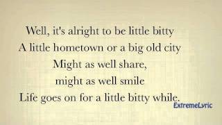 Little Bitty - Alan Jackson (LYRICS ON SCREEN)