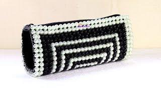 পুতির ব্যাগ/ How to make beaded purse/ New design beaded bag