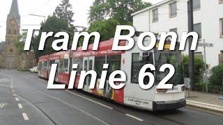 preview picture of video '[Video] Straßenbahnlinie 62 (Teilstrecke) der Stadtwerke Bonn GmbH im Jahr 2013'